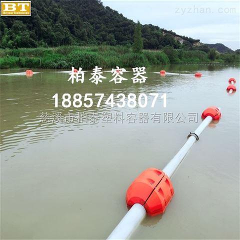 300*600水上拦截浮筒管道浮体疏浚pe浮体