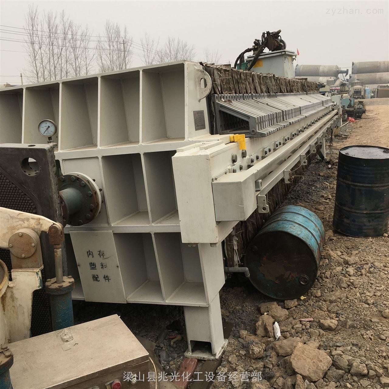 供应二手500平方景津程控自动厢式压滤机