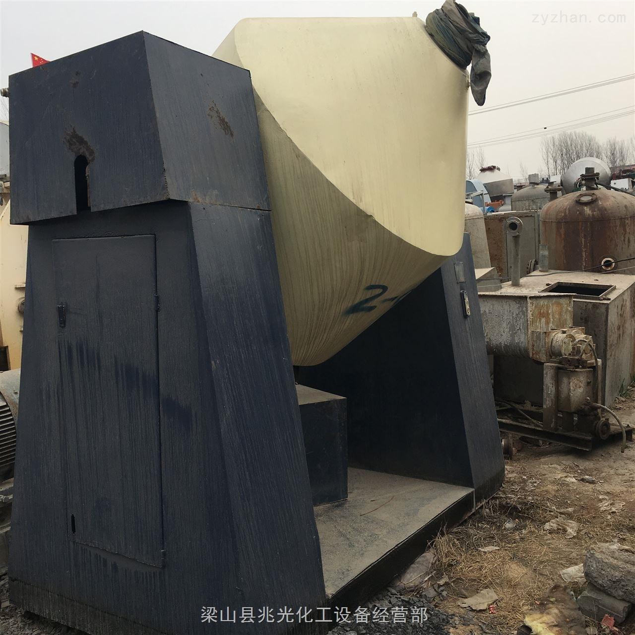 3吨-购销3000升二手搪瓷双锥回转真空干燥机