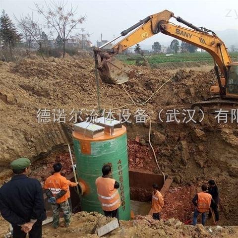 陕西一体化污水泵站 不锈钢 双筒体