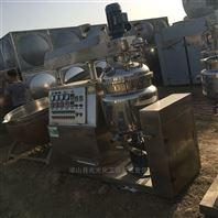 二手500L不锈钢电加热升降式真空均质乳化机