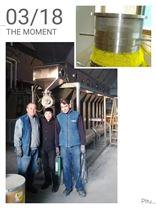 出口土耳其WDG農藥生產線箱式沸騰干燥機