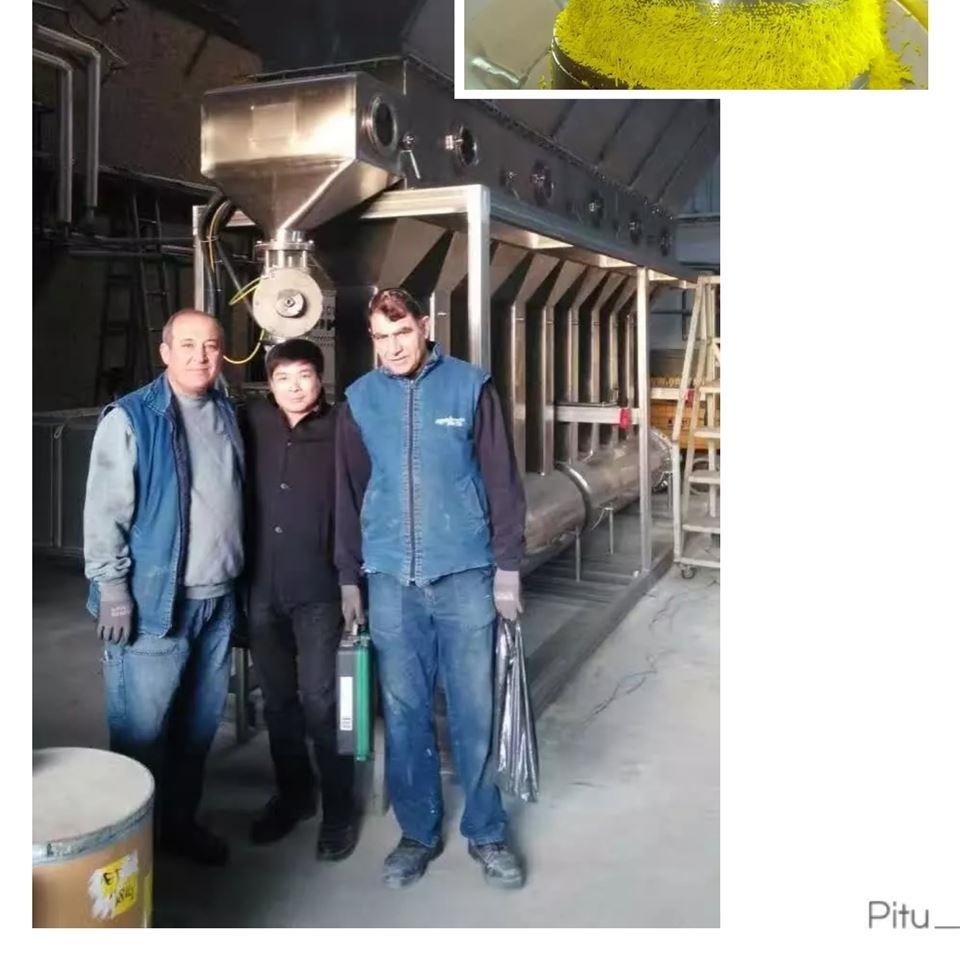 出口土耳其WDG农药生产线箱式沸腾干燥机