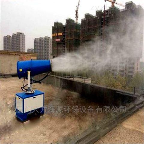除尘远程喷雾机工地半自动除尘雾炮机