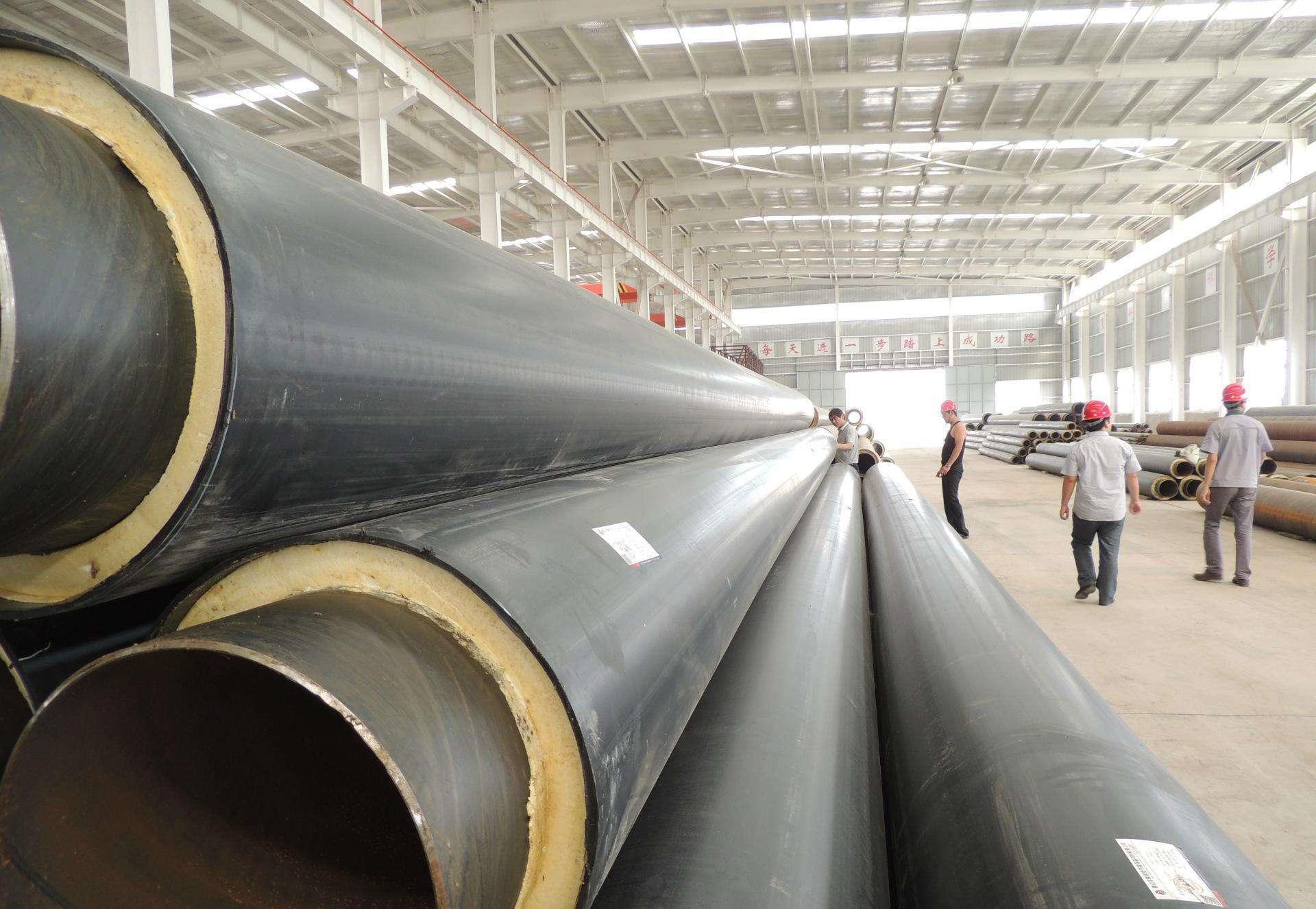 dn80钢套钢聚氨酯暖气复合保温管供应价格