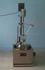 数显单层玻璃反应釜蒸馏回流可同时进行