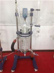 YSF-1L实验室小型双层玻璃反应釜结构合理