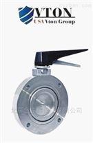 进口手动高真空蝶阀厂家 美国威盾VTON品牌