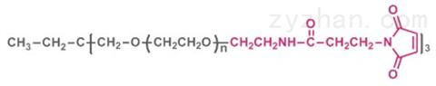 三臂聚乙二醇马来酰亚胺,3-arm PEG-MAL