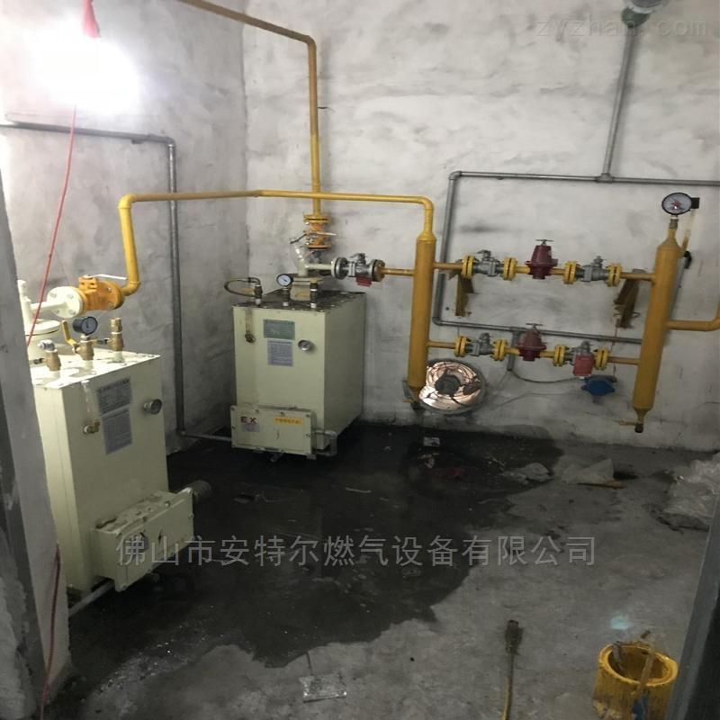 管道结冰结霜安装坐立式汽化炉100kg汽化器